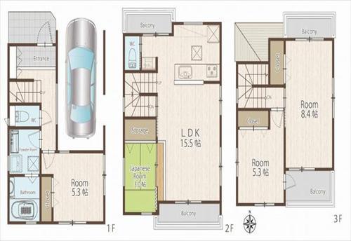 トラストシリーズ 志木市柏町5丁目 新築一戸建住宅 全2棟 今回販売1棟